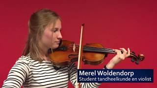 Student tandheelkunde en violist Merel Woldendorp