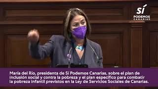 María del Río sobre los planes de lucha contra la pobreza infantil en Canarias