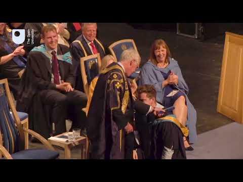 Peter Horrocks at the Milton Keynes Degree Ceremony