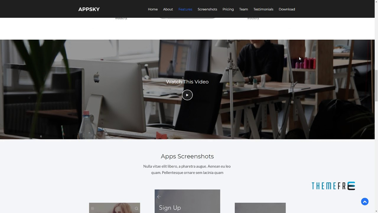 Appsky -Bootstrap4 App Landing Page | Free Template Lonny Har - YouTube