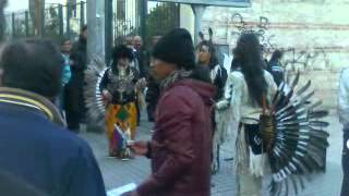 Turkey, Istanbul, Isteklal Street Red Indians dancing 17\3\2012