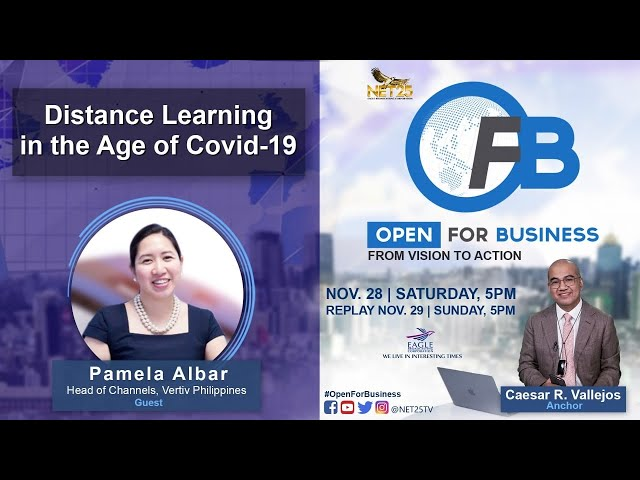 WATCH: Open for Business | Distance learning in the age of COVID-19