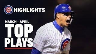 Cubs Top Plays in March and April
