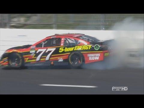 Monster Energy NASCAR Cup Series 2017. New Hampshire Motor Speedway. Erik Jones Crash