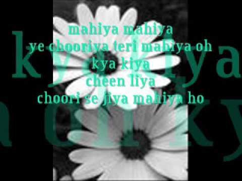 mahiya- adnan sami with lyrics