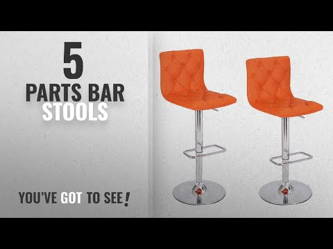 Top 10 Parts Bar Stools [2018]: Adeco Hydraulic Adjustable Height Barstool Stool Chairs, Chrome