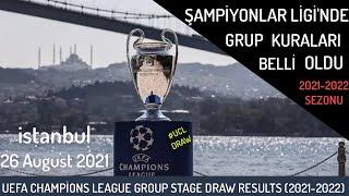 2021-22 Şampiyonlar Liginde Gruplar Belli oldu, Kura Çekimi Beşiktaş, UCL Group