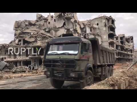 Syria: Locals try to get back to normal life in Aleppo's Alshaar district