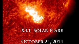 10/24/2014 -- X3.1 Solar Flare -- Long Duration X Class Event -- Earth Facing (SDO)