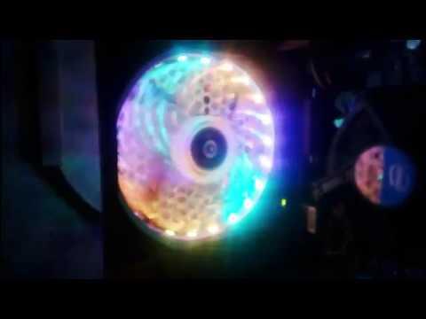 Chế thêm LED RGB đuổi cho chiếc quạt tản nhiệt máy tính không có đèn