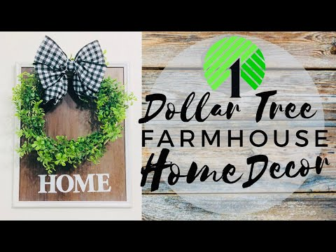 Dollar Tree Farmhouse Wall Decor | DIY Farmhouse Home Decor