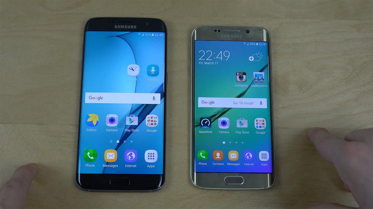 Samsung Galaxy S7 Edge vs. Samsung Galaxy S6 Edge ...