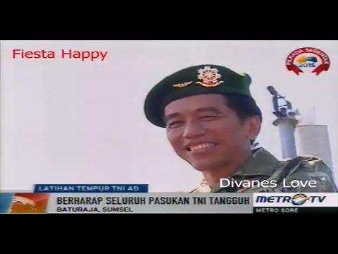 Presiden Jokowi Hadiri Latihan Tempur TNI AD di Baturaja