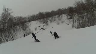 Обучение сноуборду Казань: Очень опасный слалом