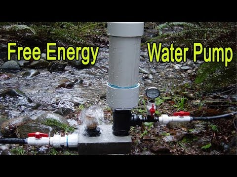 Homemade How to Make Free Energy Water Pump - Hydraulic Ram Pump