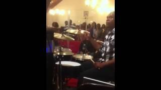 Chris Dixon playing drums
