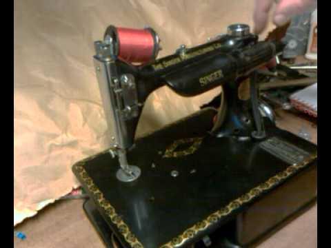 How to Thread an Antique Singer 24-80 24 Chain Stitch Sewing Machine