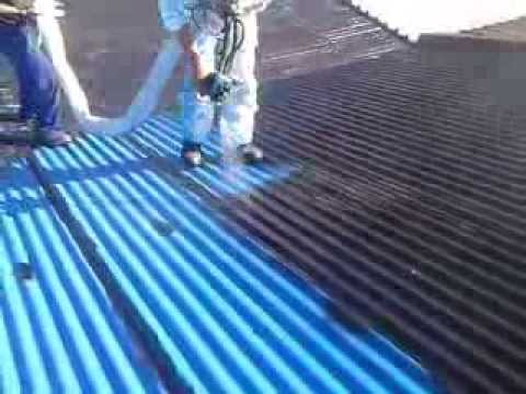 Poly-Tec:Rubberising of a corrugated roof