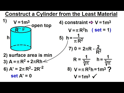 how to solve area for cylinder