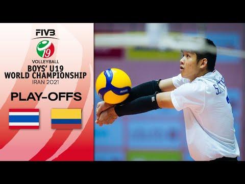 THA  vs. COL - Full Match | Play Offs 13-16 | Boys U19 World Champs 2021