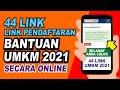 44 LINK PENDAFTARAN UMKM ONLINE 2021