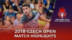 Patrick Franziska vs Jonathan Groth | 2018 Czech Open Highlights (R16)