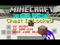 [20 SUBS SPECIAL] How to lock and unlock your chest!!!| Command blocks (Minecraft Pocket Edition)