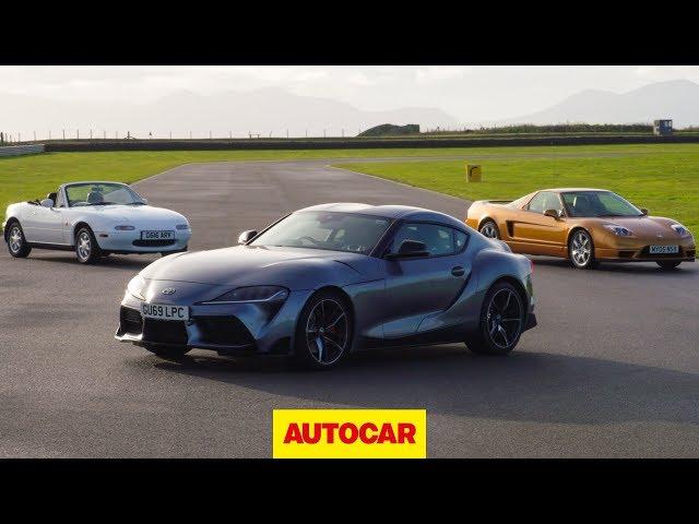 Toyota Supra meets Mazda MX-5, Honda NSX | Japanese sports car special | Autocar Heroes