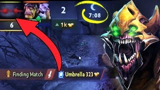 WTF 7 Min Enemy RAGE QUIT Brutal Sand King Boss by Waga Impossible Game Dota 2
