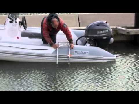 Inflatable Boat Boarding Ladder Youtube