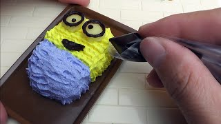 Minion Bob miniature cake Konapun tutorial