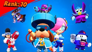 All Brawlers + Skins Losing Pose 2021 | Brawl Stars