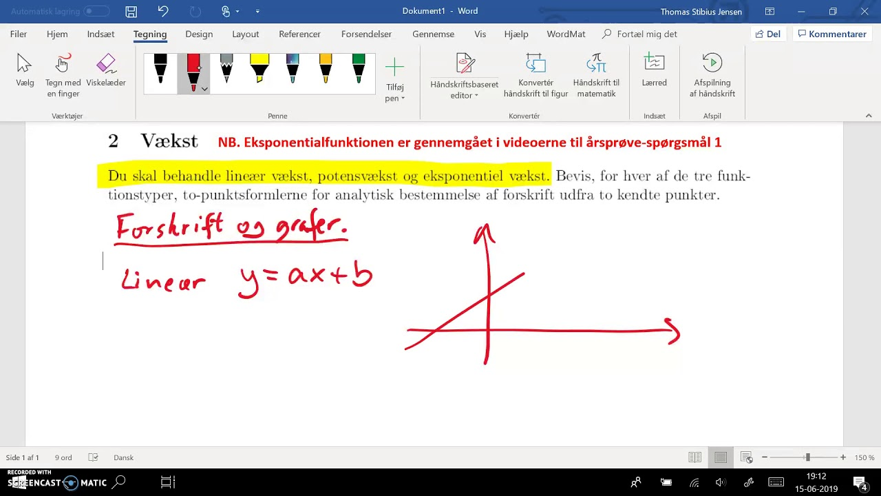 spg 2 - del 1: lineær forskrift og grafer