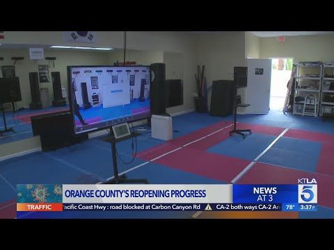 Orange County, California, moved into second tier of state's reopening framework