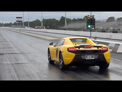 McLaren 650S 10.3 @ 137 MPH Drag Racing 1/4 Mile - 0-60 MPH in 2.61, can the 675LT or 570S beat it?