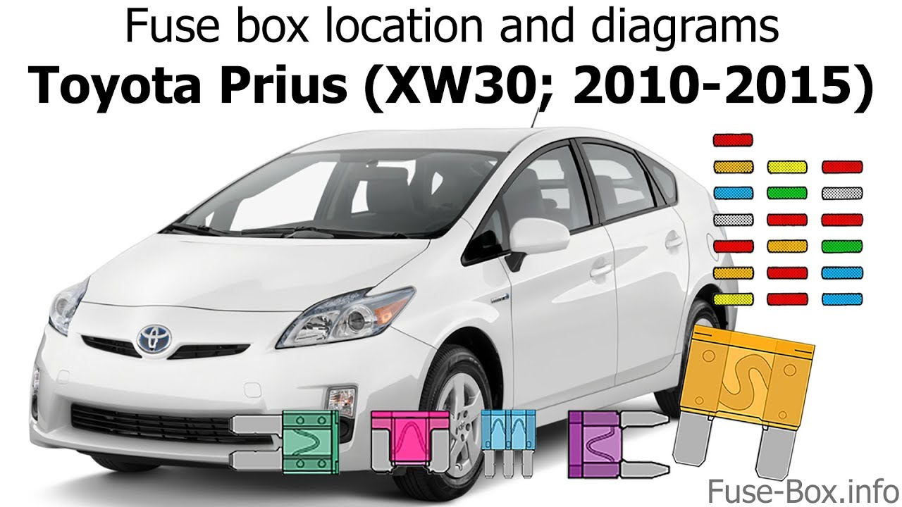 toyota prius xw30 2010 2015 fuse box location and diagrams [ 1280 x 720 Pixel ]