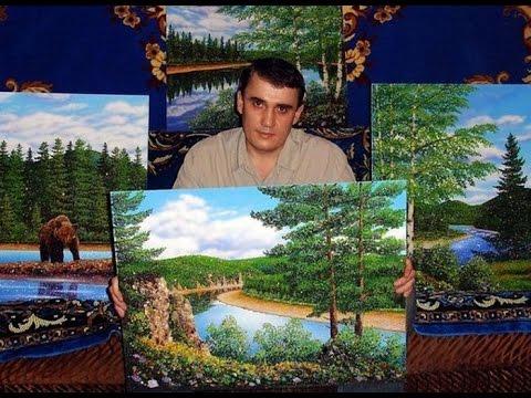 КАРТИНЫ ИЗ КАМНЕЙ-САМОЦВЕТОВ АЛЕКСЕЯ МОСМАНА