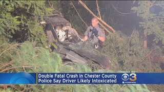 Police: 2 Dead After High-Speed Crash Sends Car Airborne, Off Roadway Into Trees
