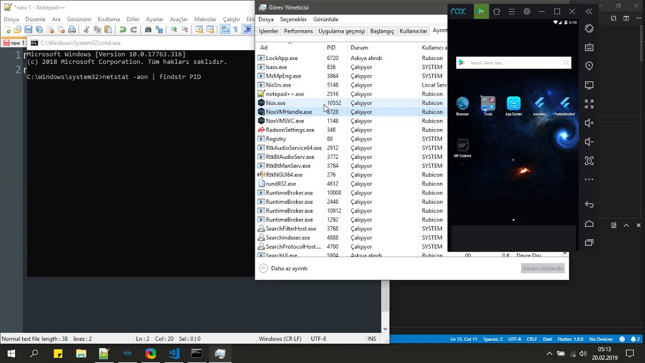 Flutter, Nox Player Emulator, Visual Studio Code, Android Studio, How to  connect adb connect