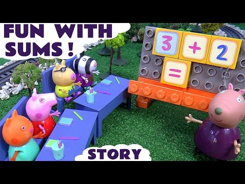 peppa-pig-math-fun-story-with-toys-|-surprise-eggs-thomas-and-friends-my-little-pony-disney-frozen