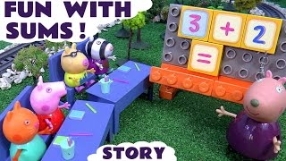 peppa pig math fun story with toys   surprise eggs thomas and friends my little pony disney frozen