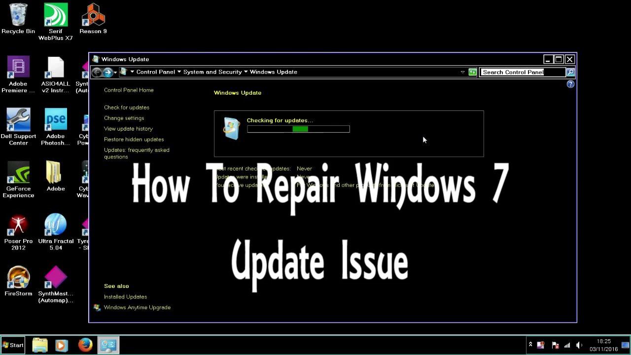how to repair windows