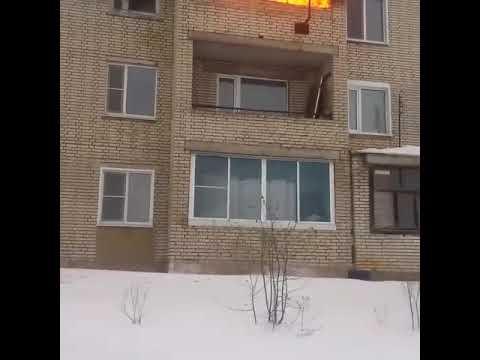 Пожар в Кузнецке Пензенской области 25.02.2019