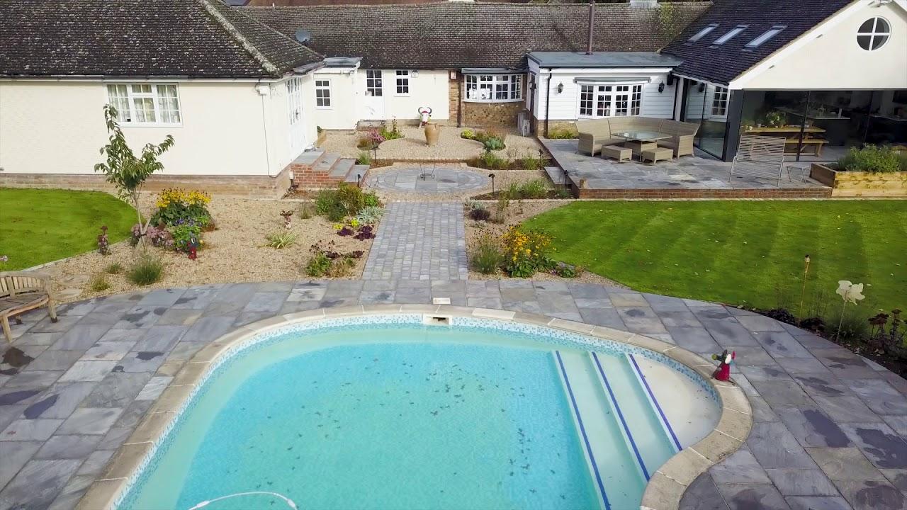 Garden House drone video - Quercus Garden Design - YouTube