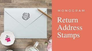 Monogram Return Address Stamps