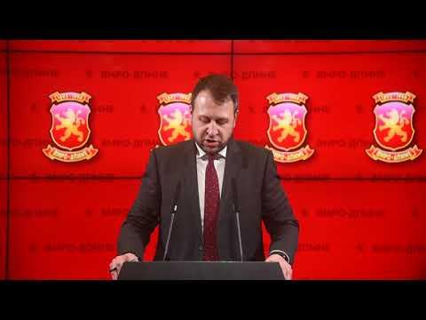 Прес конференција на Игор Јанушев - Генерален секретар на ВМРО - ДПМНЕ 18 01 2019