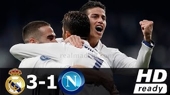 Real Madrid 3-1 Napoli All Goals and Highlights ENGLISH COMMENTARY 15/02/2017 - HD