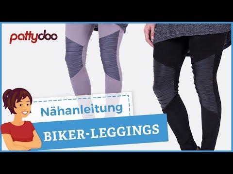 Biker Leggings mit Biesen/Falten nähen - Tipps zum Nähen von ...