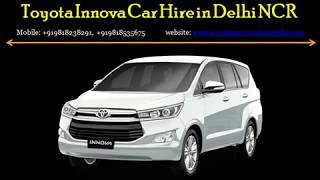 hire innova in Delhi, Toyota innova car on rent, book innova crysta