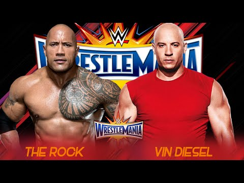 The Rock vs Vin Diesel Wrestlemania 33    HD